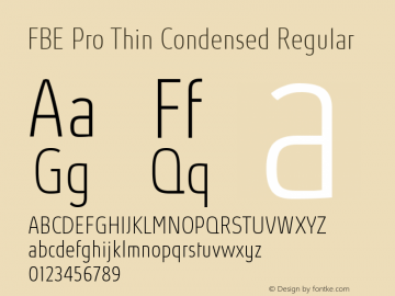 FBE Pro Thin Condensed
