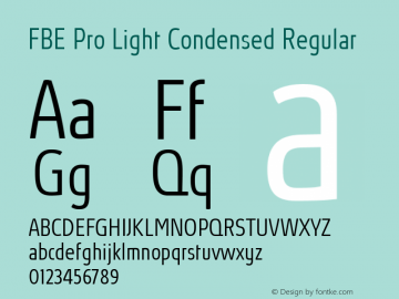FBE Pro Light Condensed