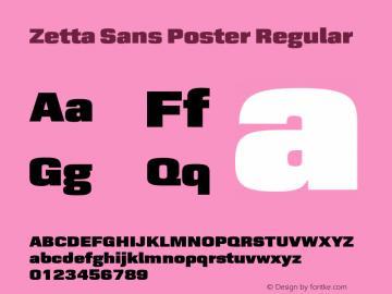 Zetta Sans Poster