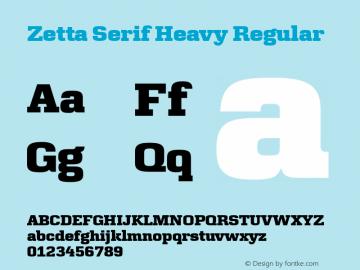 Zetta Serif Heavy
