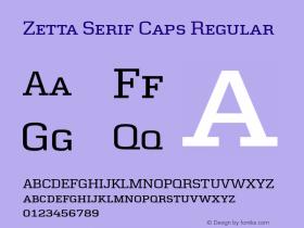 Zetta Serif Caps