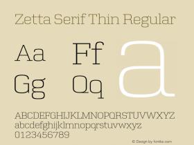 Zetta Serif Thin