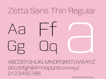 Zetta Sans Thin