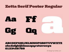 Zetta Serif Poster