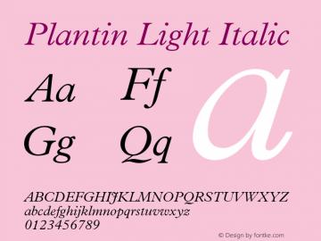 Plantin Light