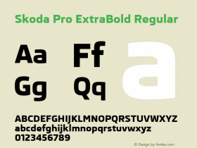 Skoda Pro ExtraBold