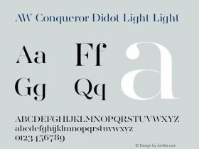 AW Conqueror Didot Light