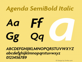 Agenda SemiBold
