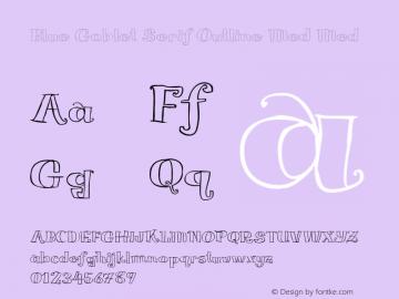 Blue Goblet Serif Outline Med