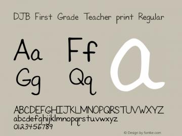 DJB First Grade Teacher print