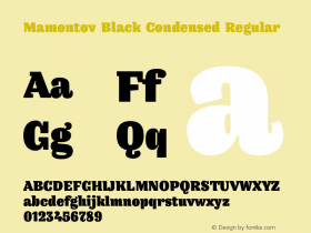 Mamontov Black Condensed