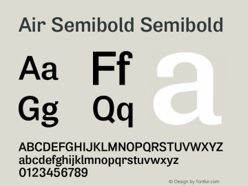 Air Semibold