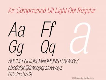 Air Compressed Ult Light Obl