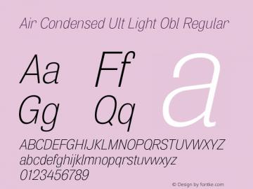 Air Condensed Ult Light Obl