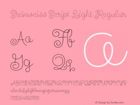 Steinweiss Script Light
