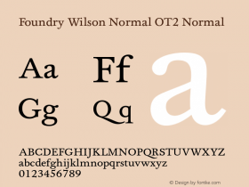 Foundry Wilson Normal OT2