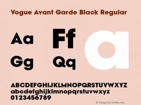 Vogue Avant Garde Black