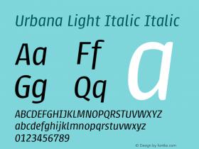 Urbana Light Italic
