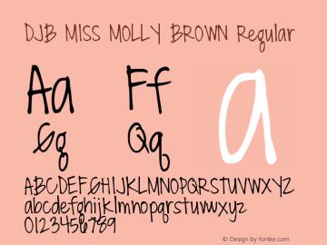 DJB MISS MOLLY BROWN