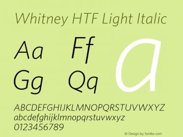 Whitney HTF Light