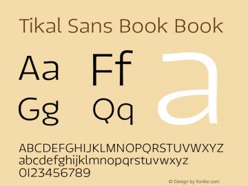 Tikal Sans Book