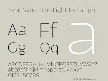 Tikal Sans ExtraLight