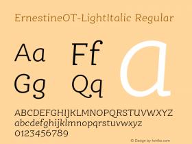 ErnestineOT-LightItalic
