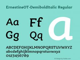 ErnestineOT-DemiboldItalic