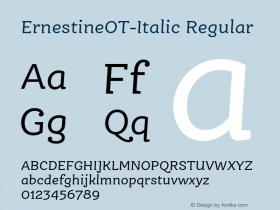 ErnestineOT-Italic