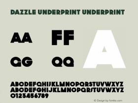 Dazzle Underprint