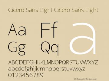 Cicero Sans Light