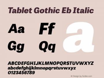 Tablet Gothic Eb