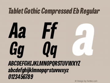 Tablet Gothic Compressed Eb