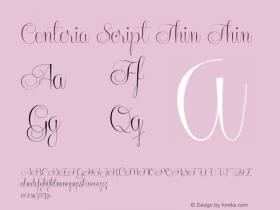 Centeria Script Thin