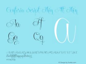 Centeria Script Thin Alt