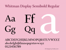 Whitman Display Semibold