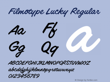 Filmotype Lucky