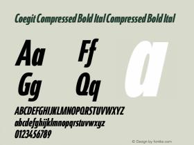 Coegit Compressed Bold Ital
