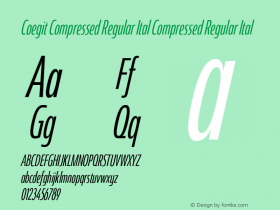 Coegit Compressed Regular Ital