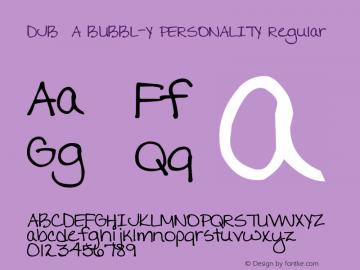 DJB A BUBBL-Y PERSONALITY