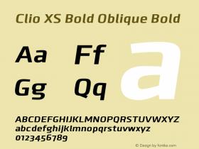 Clio XS Bold Oblique