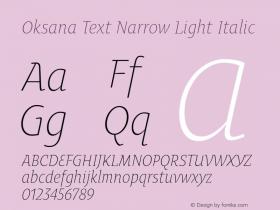 Oksana Text Narrow Light