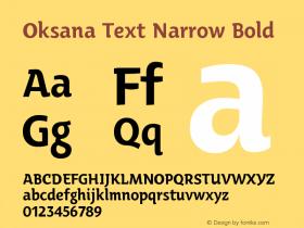 Oksana Text Narrow