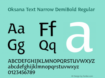 Oksana Text Narrow DemiBold