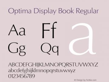 Optima Display Book