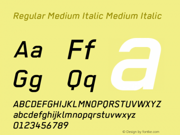 Regular Medium Italic