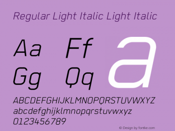 Regular Light Italic