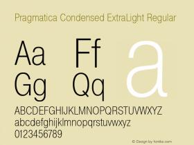 Pragmatica Condensed ExtraLight