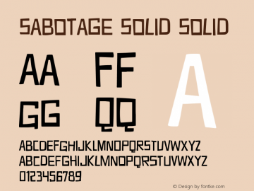 Sabotage Solid