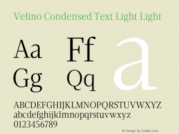 Velino Condensed Text Light